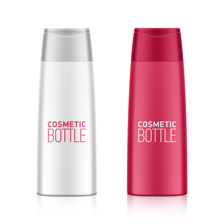 aftershave: Cosmetic packaging, plastic shampoo or shower gel bottle template for your design