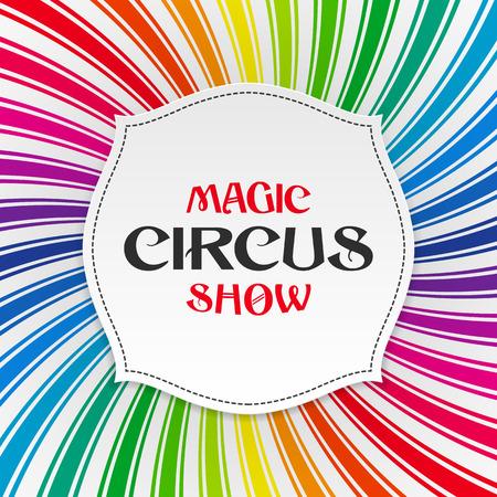 Fondo mágico espectáculo de circo cartel Vectores