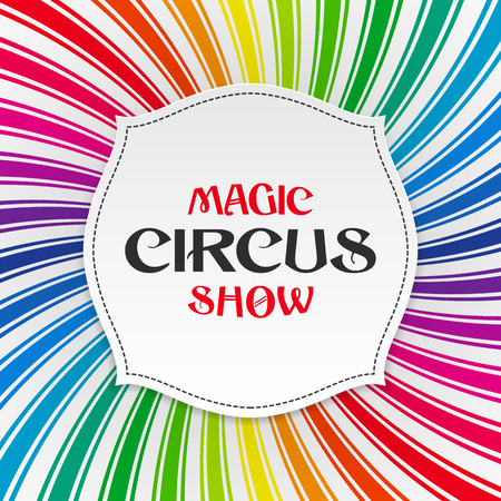 Magic circus show poster background Vector
