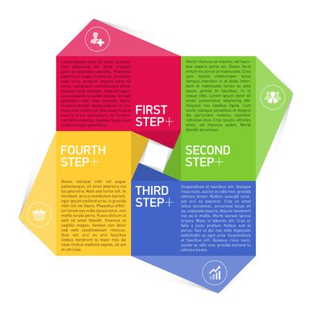 consecutive: Four consecutive steps design element template