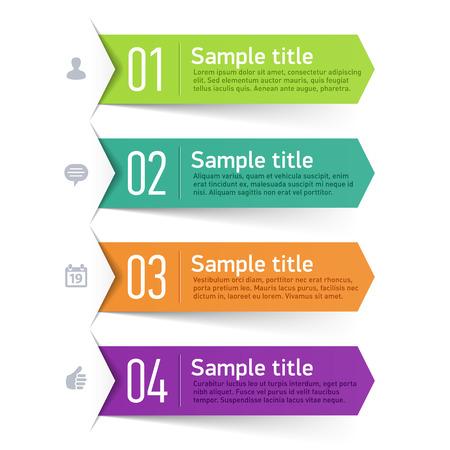flechas: Cuadro de texto, elemento de infografía