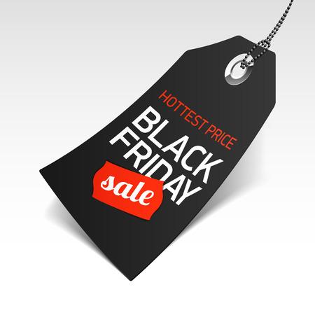 etiquetas de ropa: Viernes Negro etiqueta de precio de venta Vectores
