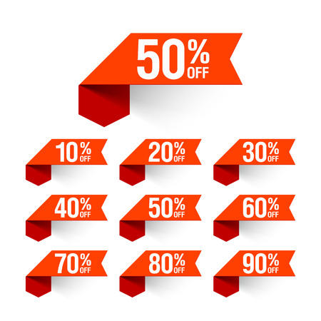 Sale, discount labels Vector