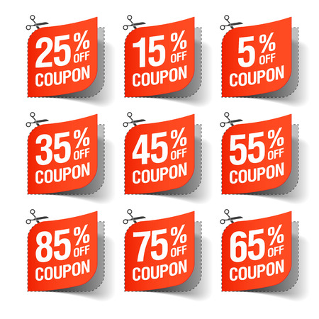 cut price: Sale coupons Illustration