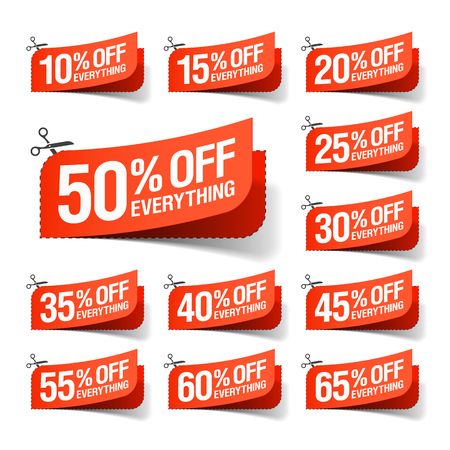 must: Everything is on Sale coupons Illustration