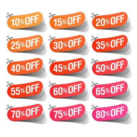 sticker: Sale coupons Illustration