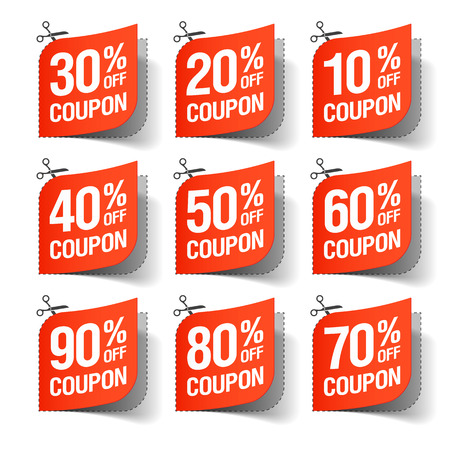 sale sign: Sale coupons Illustration