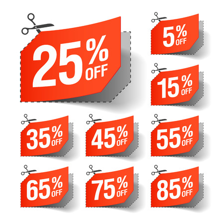 closeout: Sale coupons Illustration