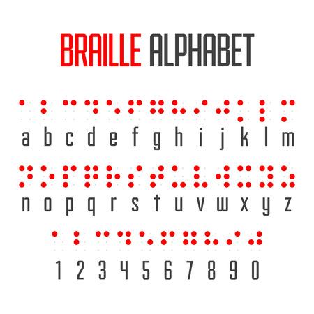 Alfabeto y los números Braille Foto de archivo - 33817812