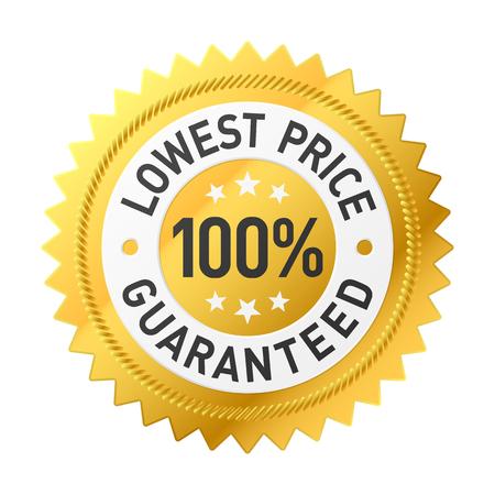 Laagste prijs garantie sticker