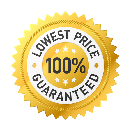 lowest: Lowest price guaranteed sticker