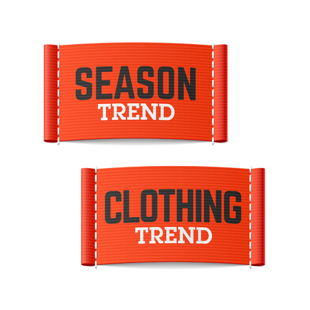 trend: Season and clothing trend labels Illustration