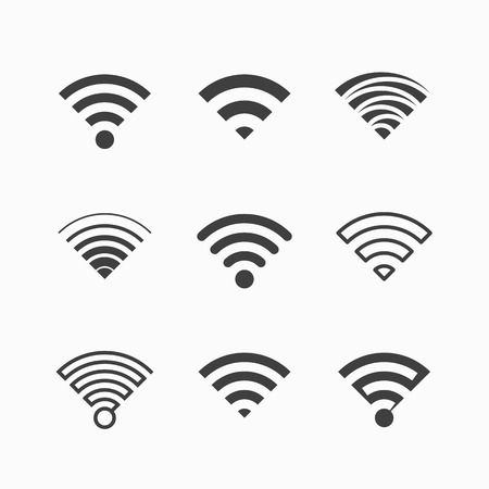 wireless communication: Wireless, Wi-Fi icons