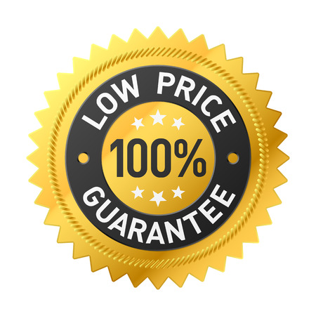 low cost: 100% low price guarantee sticker