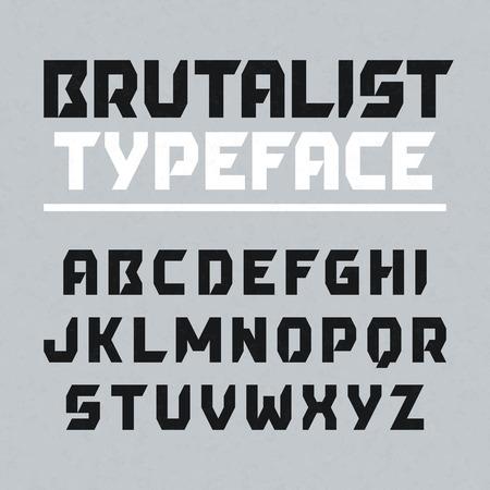 Brutalist typeface