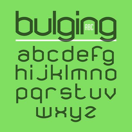 bulging: Bulging typeface