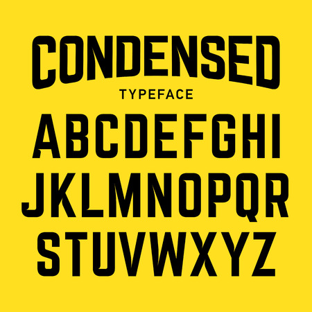 Condensed typeface, industrial bold style font