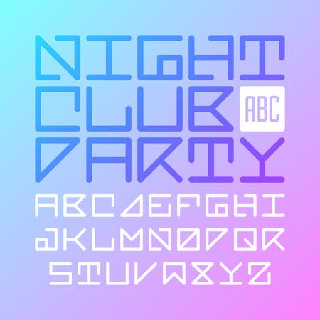 bright alphabet: Modern font Illustration