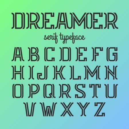 typeface: Modern serif typeface