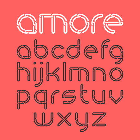 amore: Font from chain, alphabet Illustration