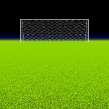 Voetbal doel op zwart