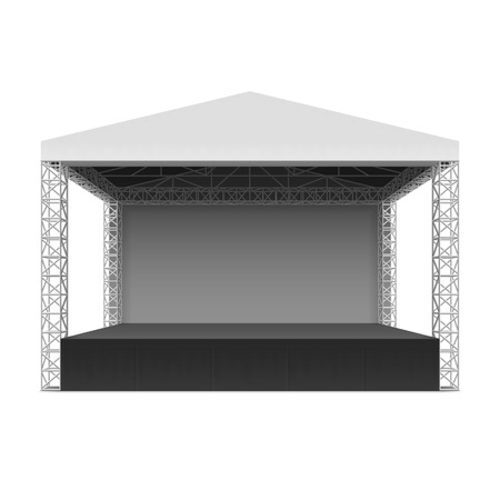 屋外コンサートのステージ