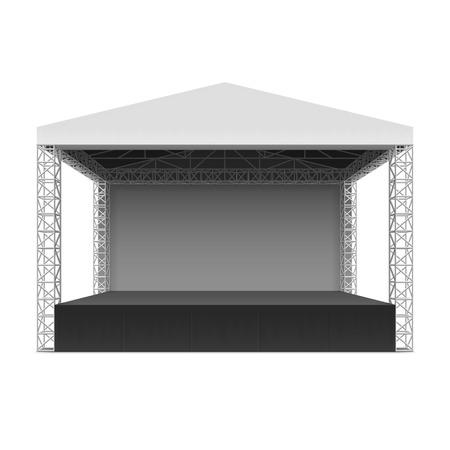 Escenario para conciertos al aire libre