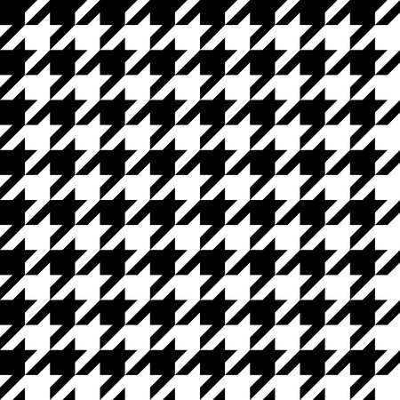 Houndstooth pattern, seamless illustration Vector