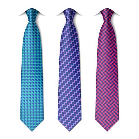 silk tie: Houndstooth and zigzag patterns ties