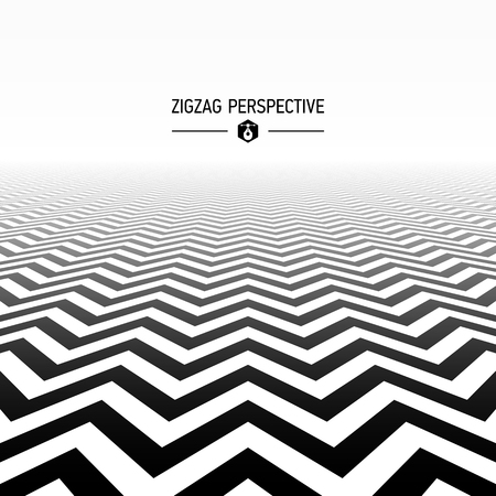 gráfico: Perspectiva ziguezague Ilustração