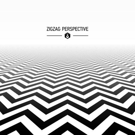 mode retro: Zigzagpatroon perspectief