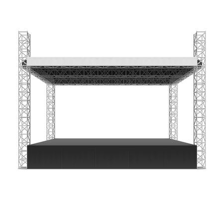 野外コンサート ステージ、トラス システム  イラスト・ベクター素材