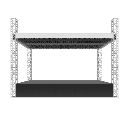 outdoor event: Outdoor concert stage, truss system