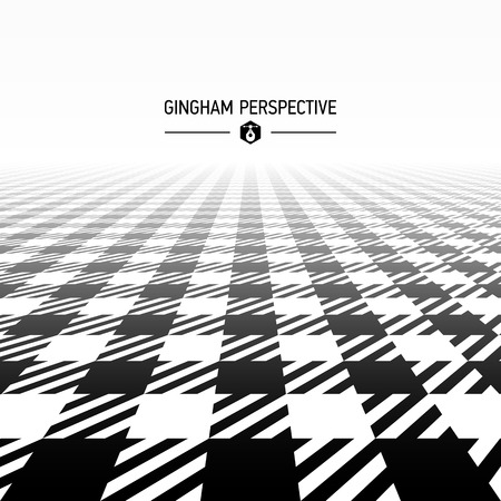 gingham pattern: Gingham pattern perspective Illustration