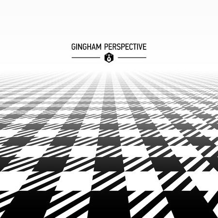 gingham pattern: Gingham pattern perspective Illustration