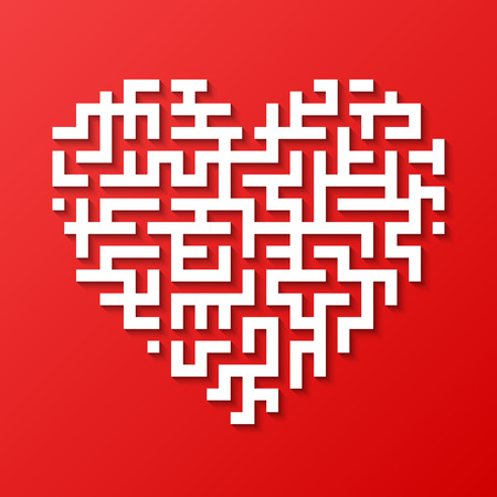 heart puzzle: Maze heart Illustration