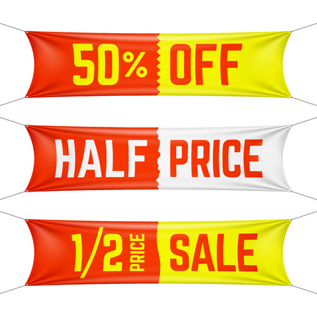 Half price textile banners