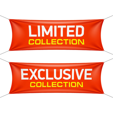 limited: Limited and exclusive collection textile banners