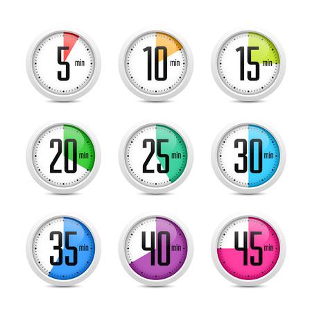 time remaining: Set of timers Illustration