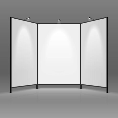 trade show: Blank trade show booth Illustration