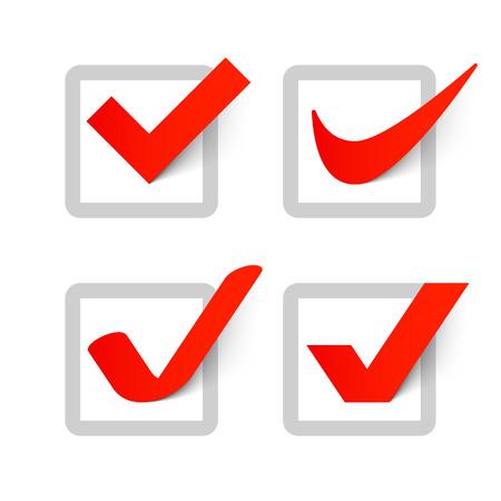 simbolo: Las marcas de verificación Vectores