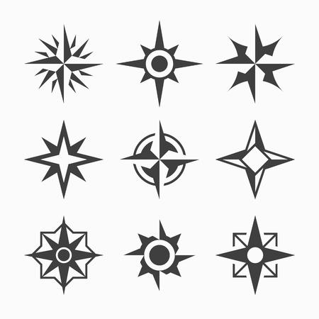 Rosa de los vientos: El viento se levantó iconos