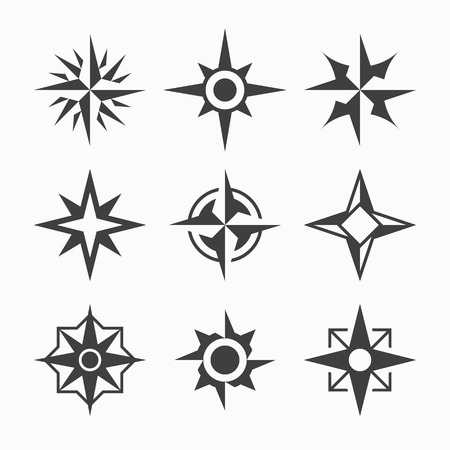 wind rose: Wind rose icons