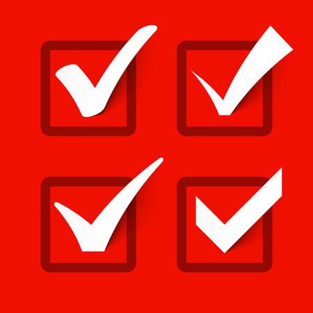 garrapata: Las marcas de verificación Vectores