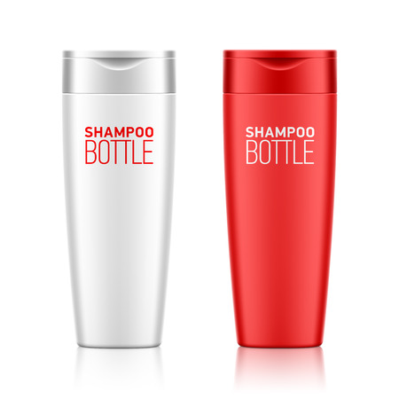 bottle cap: Shampoo bottle template for your design Illustration
