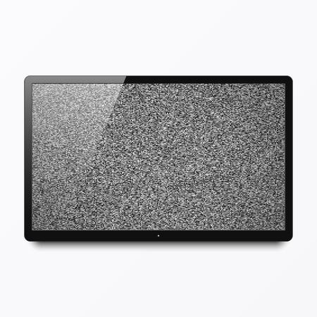 tv scherm: TV-scherm met geen signaal Stock Illustratie