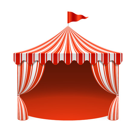 Circus tent, poster background Vector