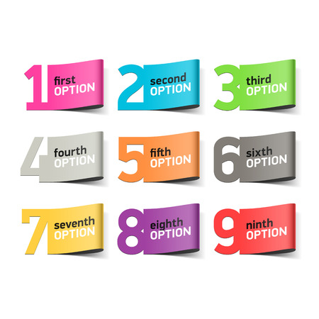 digit 3: Options numbers, infographics element