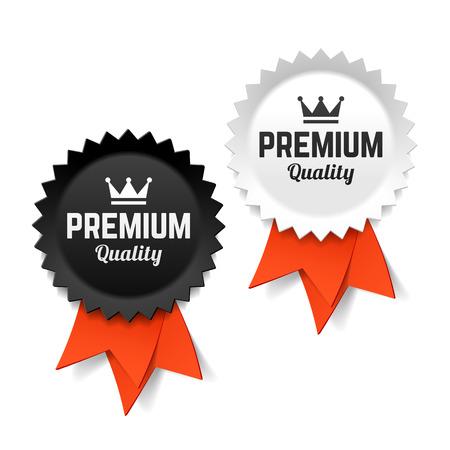 insignias: Etiquetas de calidad Premium Vectores