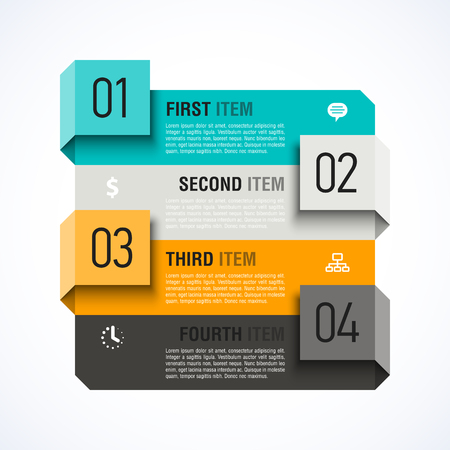 colour chart: Infographics design template Illustration